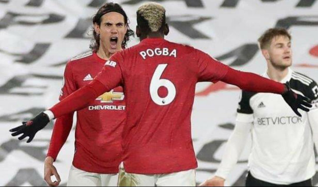Best duo cavani and pogba. Score to the top again #MUFC 🔴⚽️