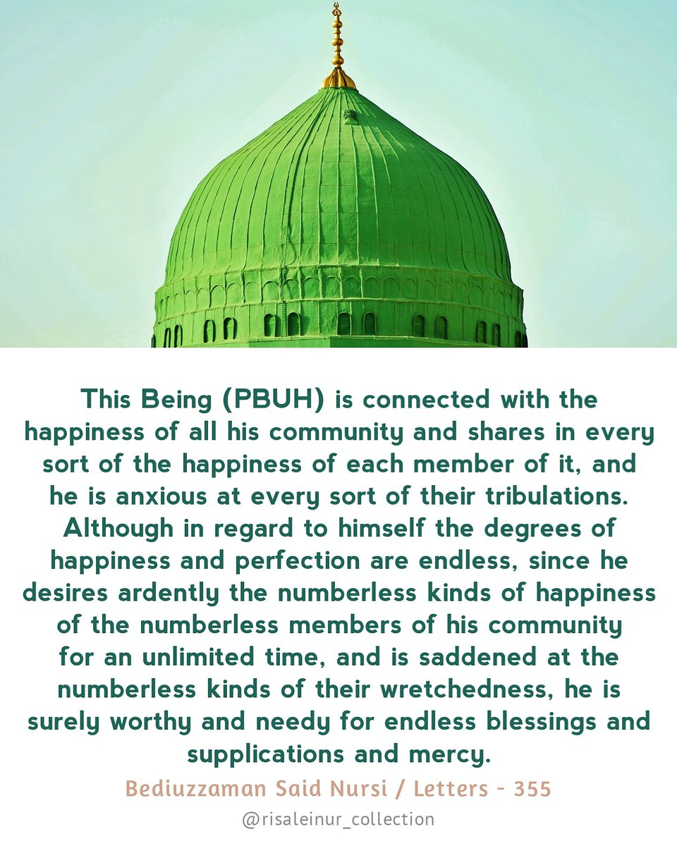#connected #happiness #community #ummah #anxious #tribulation #worthy #salawat #supplication #prophetmuhammadﷺ #letters #bediuzzaman #saidnursi #risaleinur #risaleinurcollection #islam #quran #tafsir #religion #faith #truth #book #islamicreminder #islamicquotes #twitter https://t.co/QKlZOXUIEO
