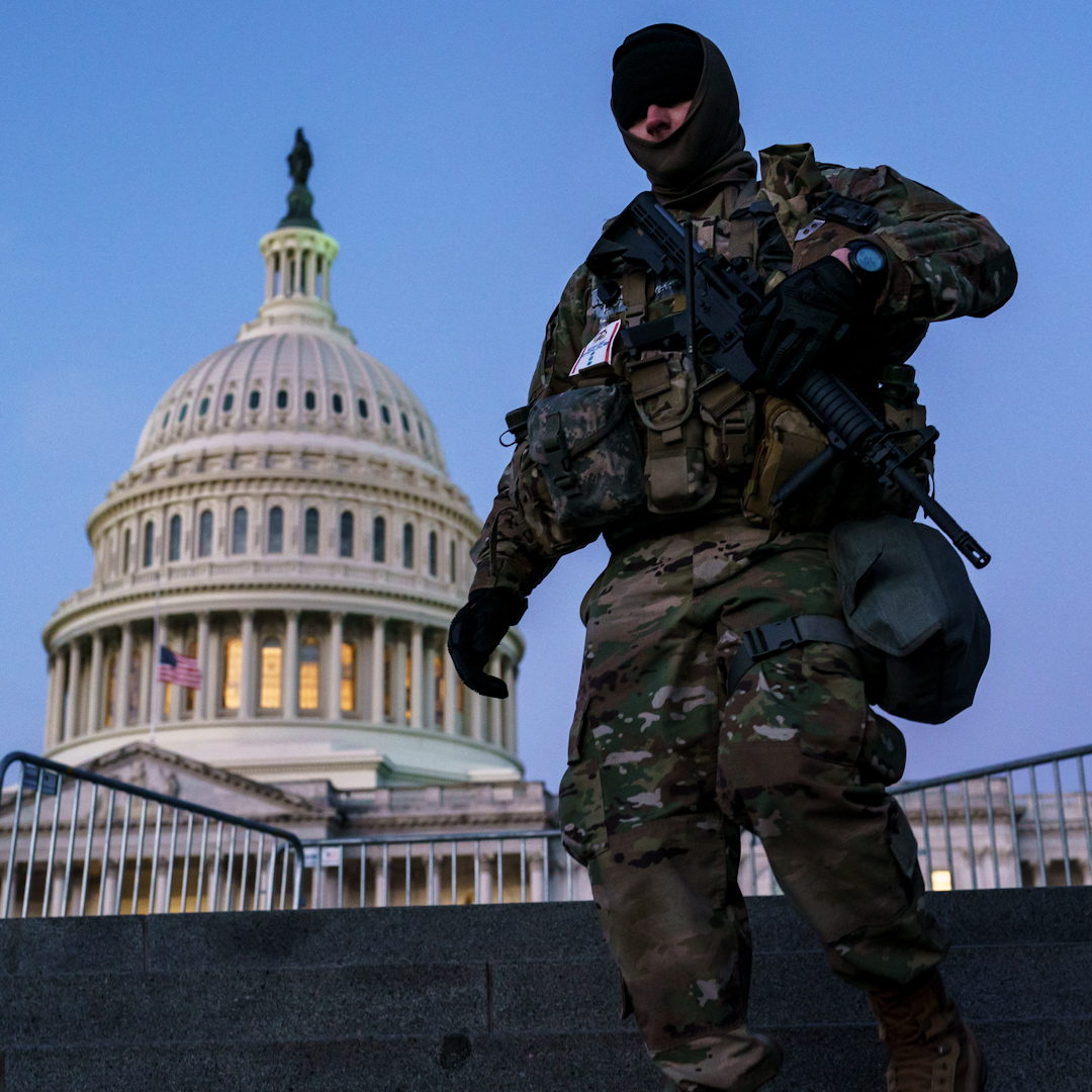 The Pentagon removed 12 National Guard members from #Inauguration duty for their ties to right-wing militias.   The FBI found at least six suspects with military links, officials say, among the over 100 people arrested for their roles in the Jan. 6 insurrection.