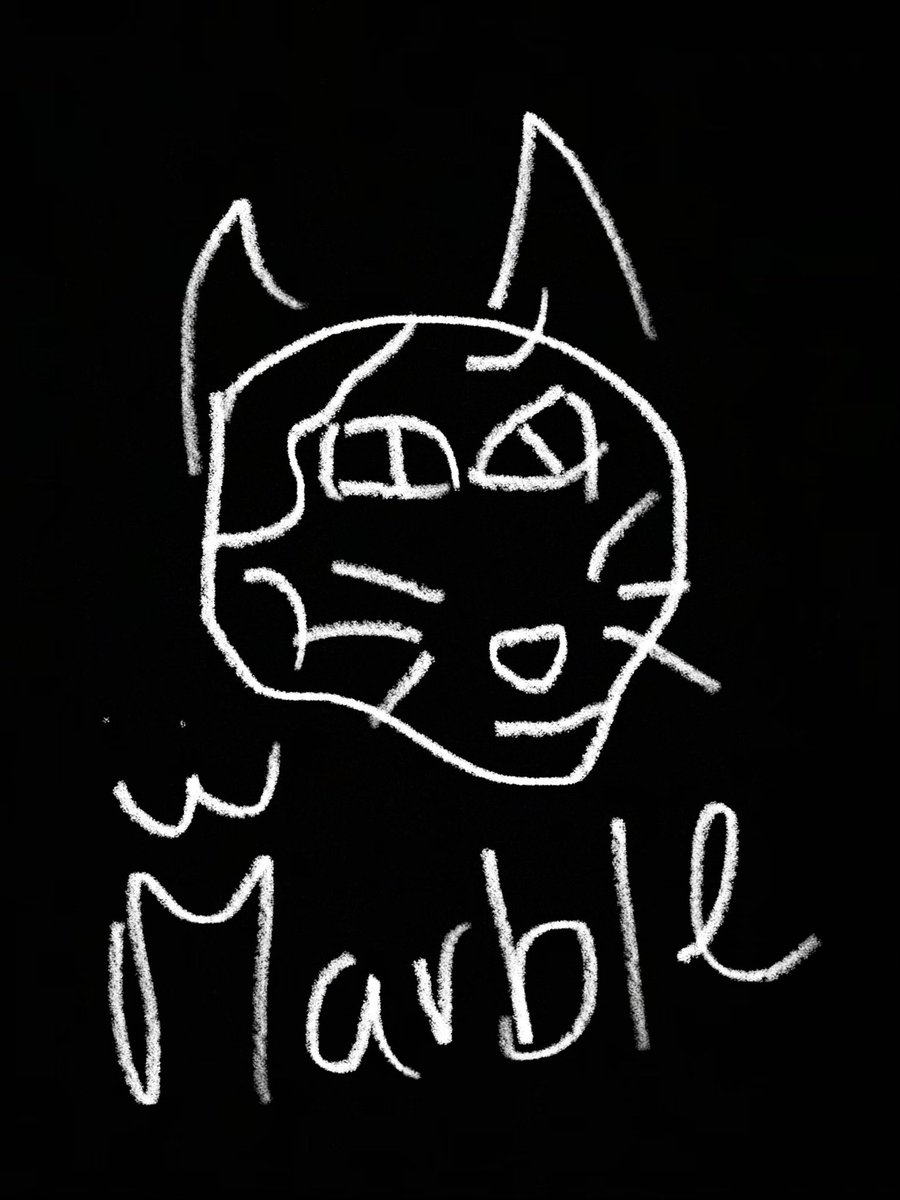@pokimanelol @CashApp yeah i'm horrible at drawing, but this is Marble my baby! :3 $accusation  #CashAppPoki
