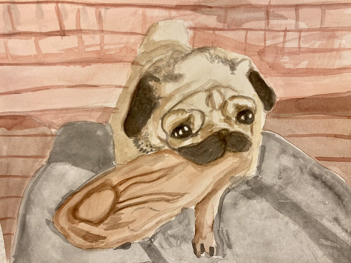@pokimanelol @CashApp This is my pug named BB I painted! I love her dearly! I'm a streamer and artist that loves to play games with chat!💕💖  $LilyPadie #CashAppPoki
