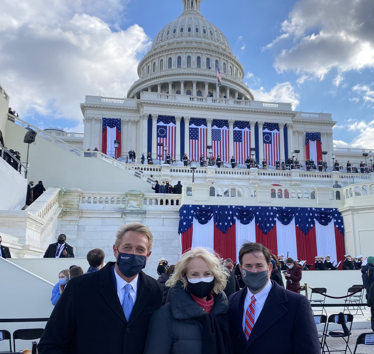 Happy to be in our nation's Capitol today with Arizona Republicans @cindymccain and @dougducey to witness our nation's most important ritual: the peaceful transfer of power