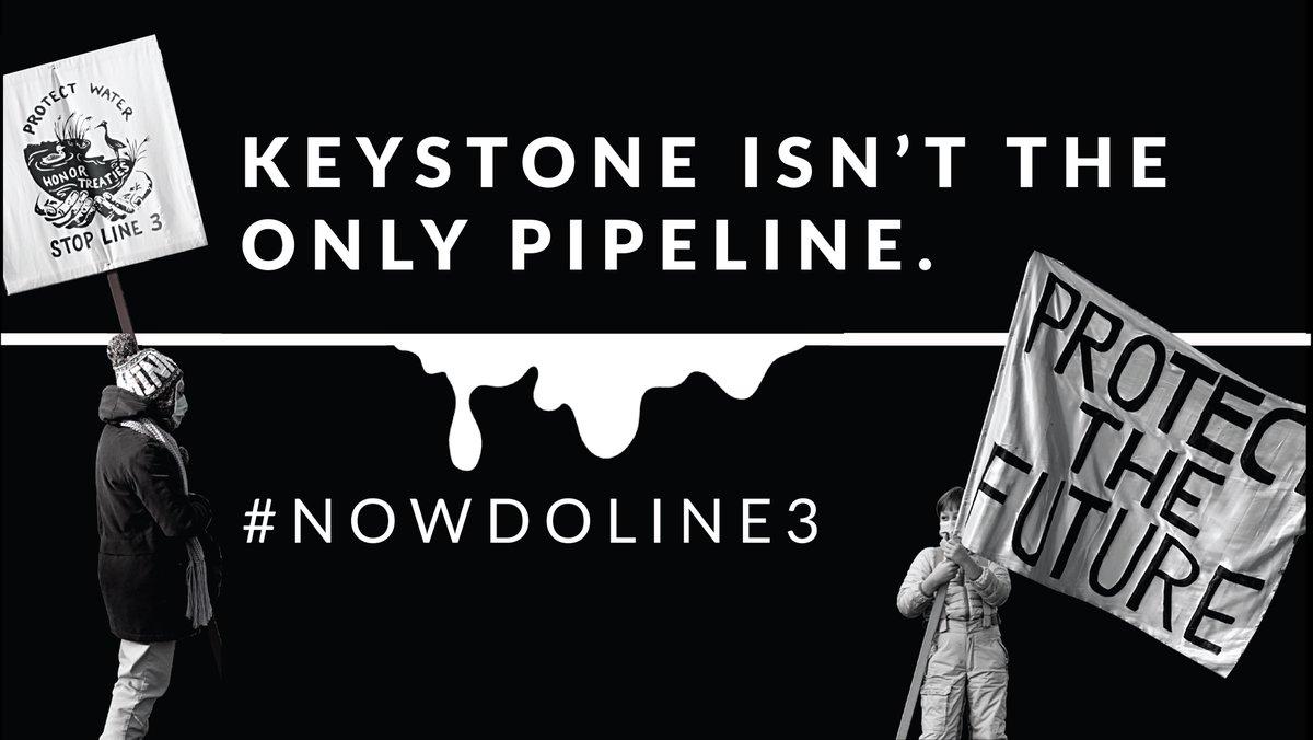 We thank @JoeBiden @KamalaHarris for saying #NoKXL on #InaugurationDay. #NowDoLine3! Shut down super-polluting #tarsands crude oil and #HonorTheTreaties, #StopLine3 today.