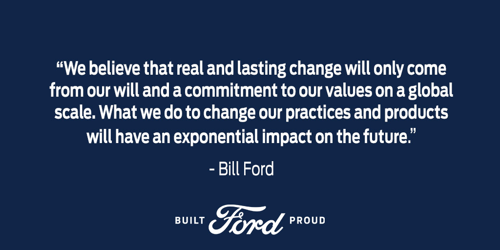 Ford's commitment to the Paris Climate Agreement matters and our position has never wavered.