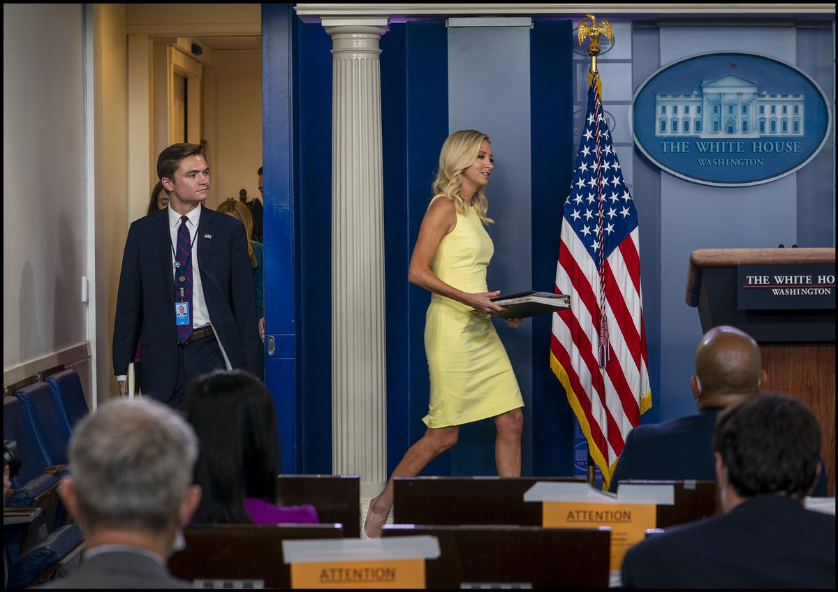 Thank you @kayleighmcenany for leading the way – it was an incredible journey with you at @WhiteHouse45!  As Press Secretary, you always brought preparation to the podium, you empowered your outstanding team, and you taught me the art of going on offense. Proud of your work! https://t.co/u4uuR1Orzs