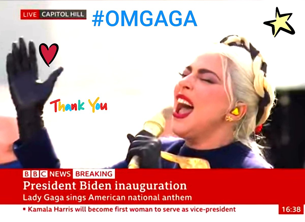 "OMGAGA!   ""Biden inauguration: Lady Gaga sings the National Anthem - BBC News""     #BidenHarris2020ToSaveAmerica  #inauguration2021  #ladygaga  #NOH8 #love  Remember...Respect...LOVE! ❤"