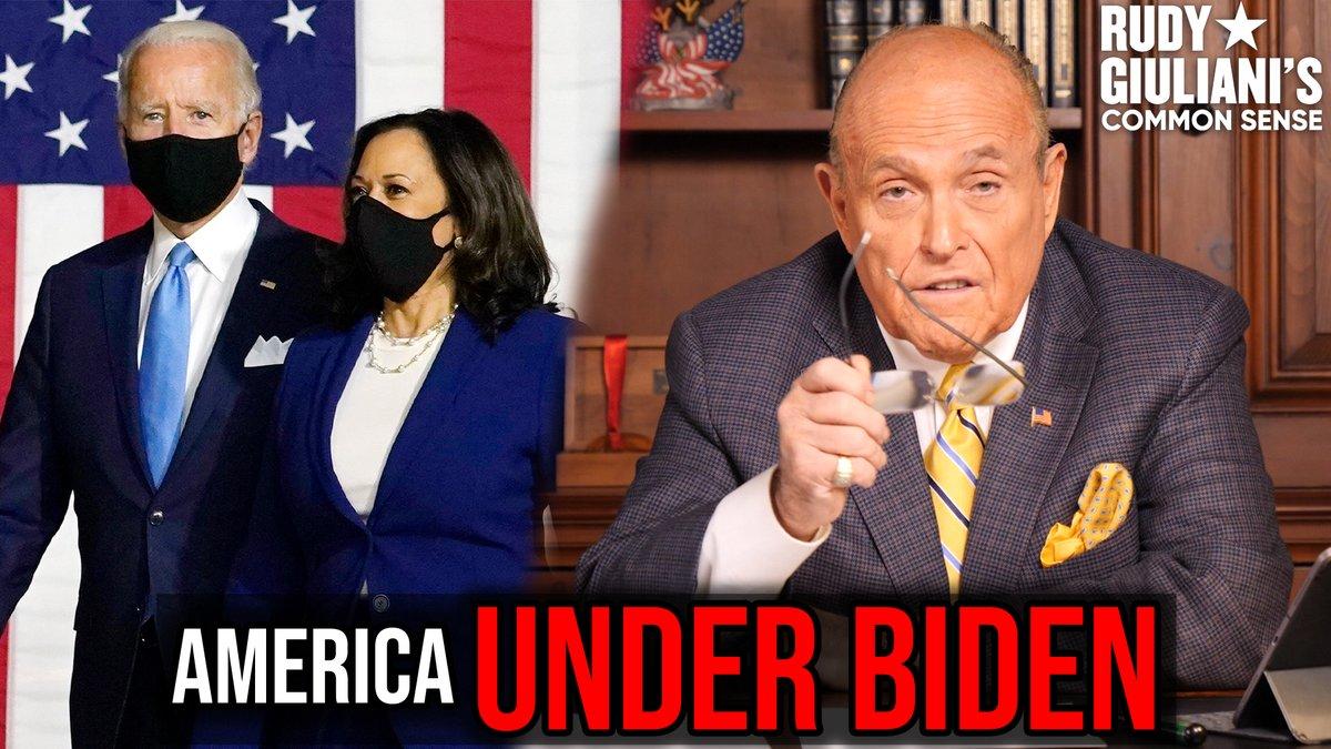 Replying to @RudyGiuliani: America UNDER JOE BIDEN  Rudy Giuliani breaks it down HERE: