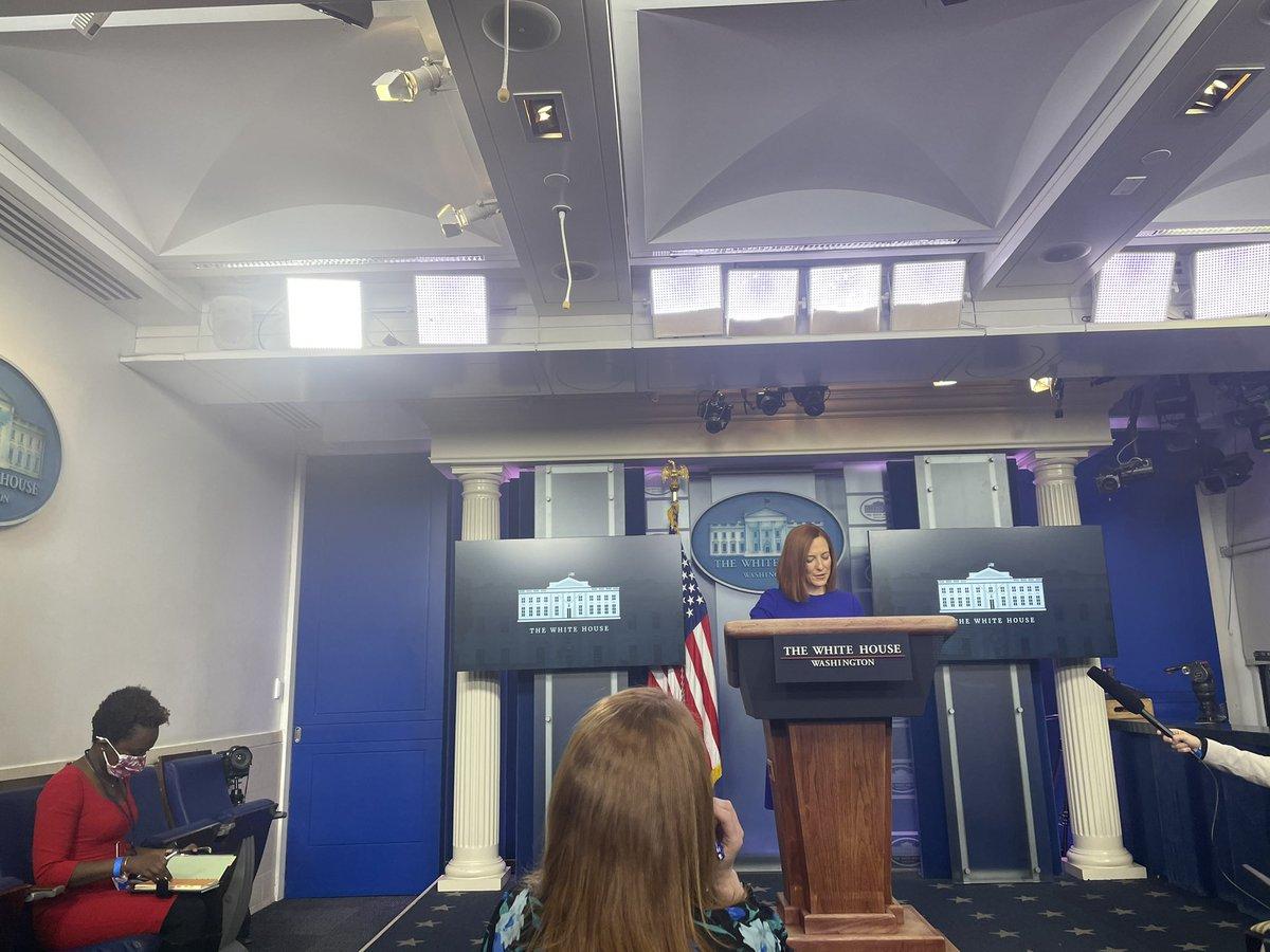 Replying to @jeneps: New @PressSec begins her first press briefing. Staffed by @K_JeanPierre, her principal deputy.
