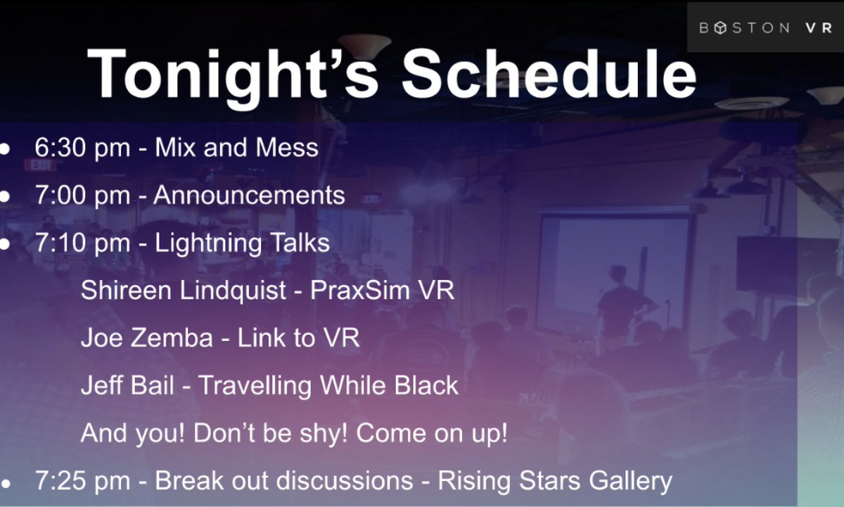 The  @BostonVRMeetup has started on the iLRN Virtual Campus w/ Lightning Talks! Come to the Circle of Scholars Conference Hall for Lightning by Shireen Lindquist, Joe Zemba, Jeff Bail, & other participants! Then over to the Rising Stars Gallery for #XR Breakout Discussions!