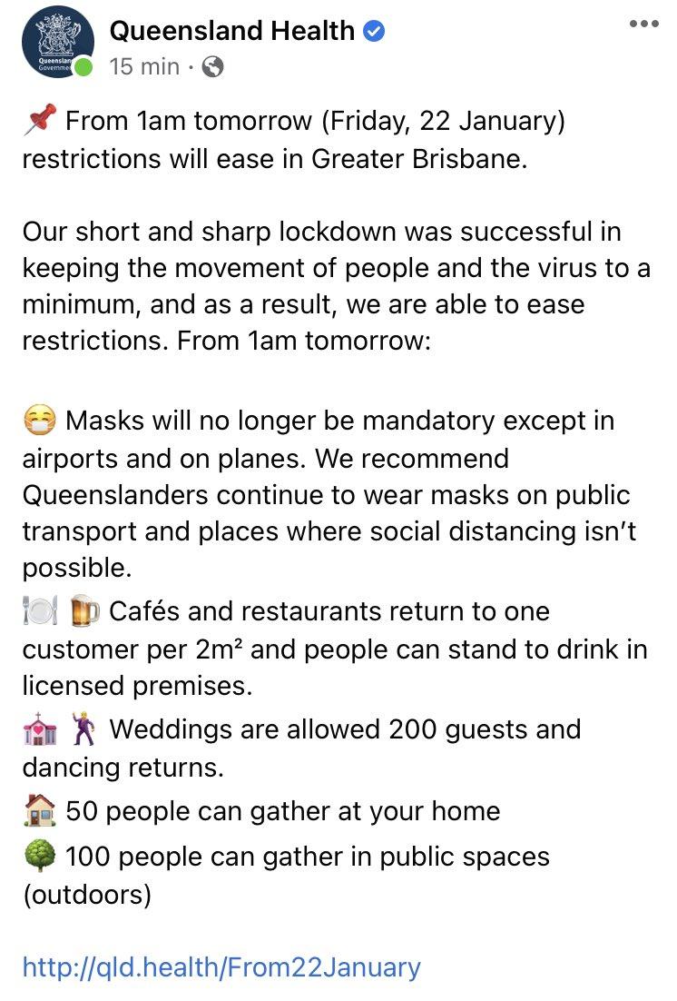 Qu'est-ce que peut faire des mesures plus strictes à l'australienne? Ça permet d'éviter le supplice de la goutte que nous vivons et de reprendre une vie normale entre les éclosions. #CouvreFeu18h #CouvreFeu #COVID19france #covid19Qc