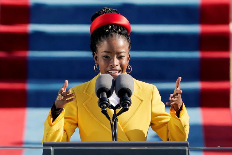 Poet Amanda Gorman, 22, captures 'bruised, but whole' U.S. at Biden, Harris inauguration