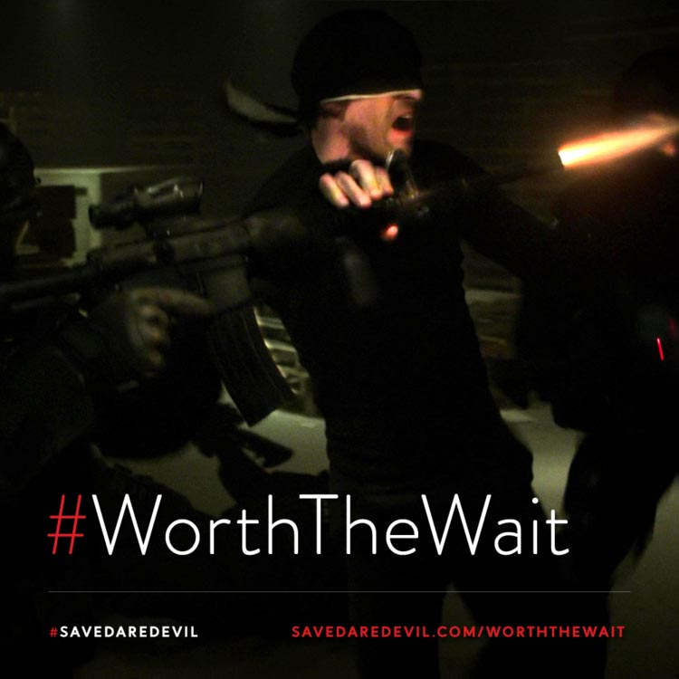 This extraordinary show and amazing characters are #WorthTheWait!   #SaveDaredevil    Please sign the petition:   @Disney @Marvel @hulu @Kevfeige