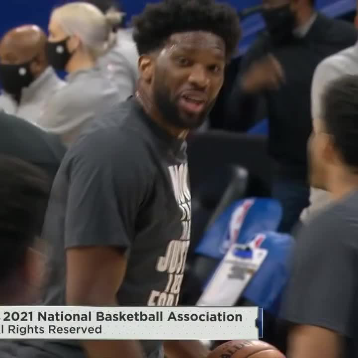 Replying to @ESPNNBA: Embiid's ready for Celtics-Sixers 😆