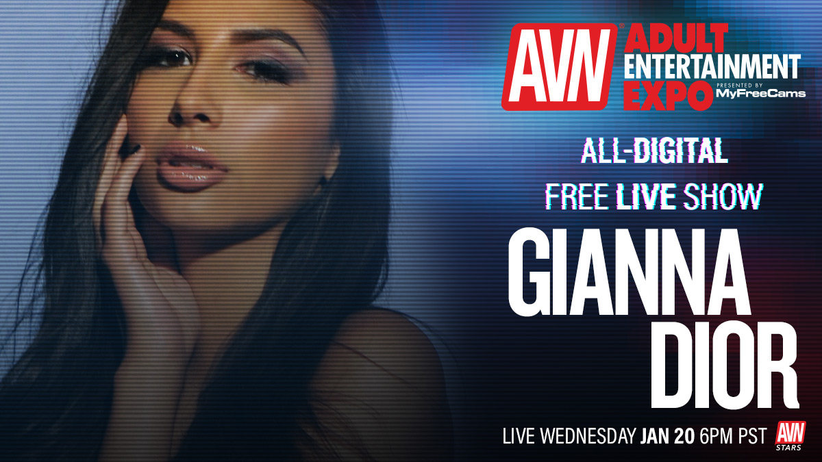 .@Gianna_DiorXXX Going live for the all-digital #AVNShow today at 6:00 p.m. Tune in here: stars.avn.com/giannadior