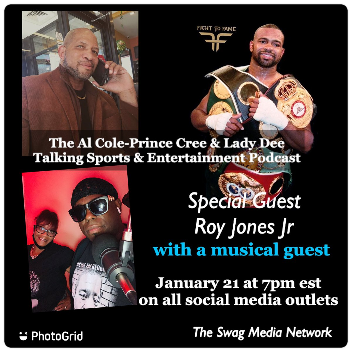 Tune in tomorrow at 7pm right here as we will be streaming live with our special guest @RoyJonesJrFA #boxing #sports #espn #royjonesjr #miketyson #triller