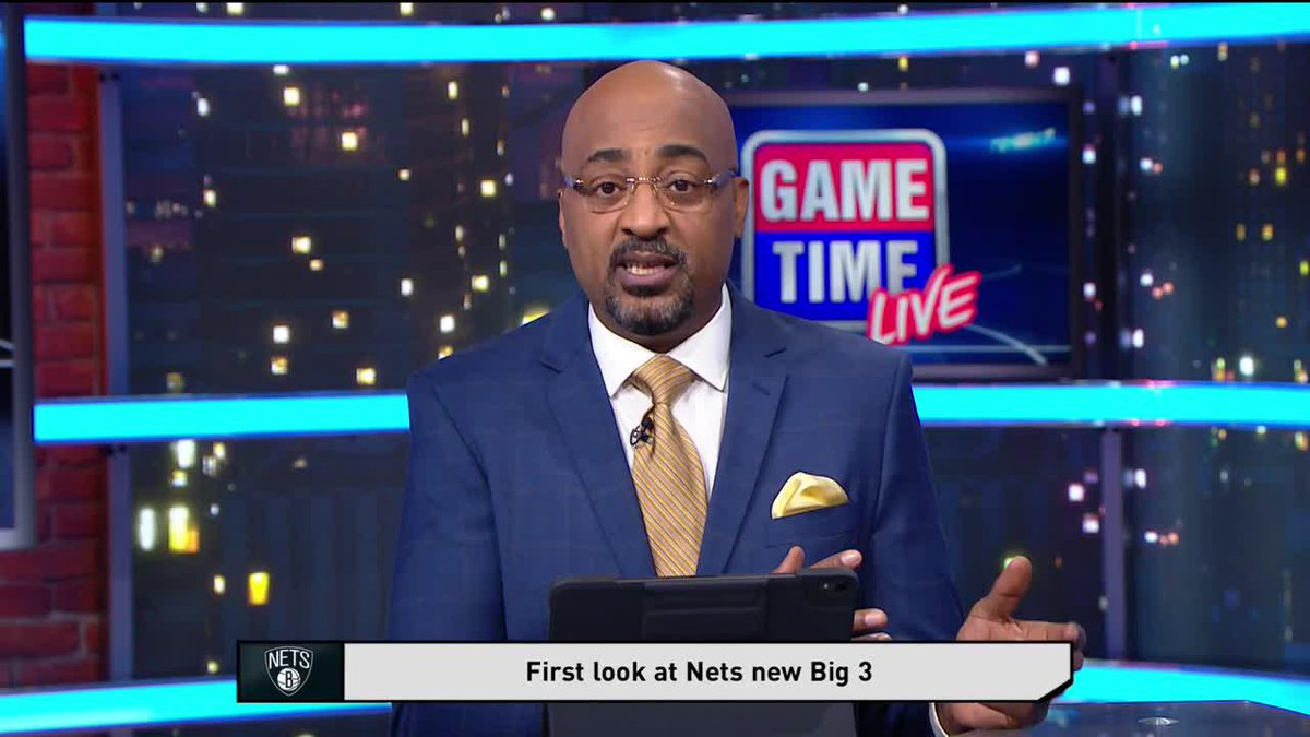 """""""Once they figure out the defense, the offense will figure out itself.""""   @IsiahThomas & @3DTV discuss KD, Kyrie and Harden all playing together for the first time tonight #GameTime"""