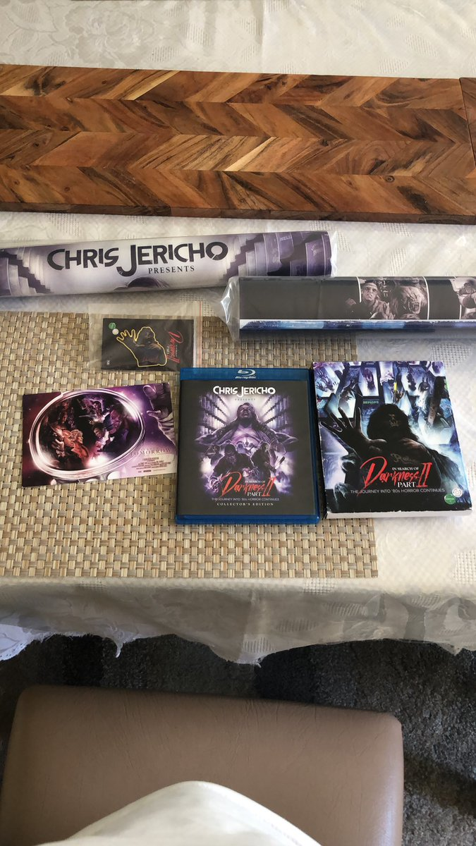 Replying to @DTemov: Yo @IAmJericho @80sHorrorDoc  My collectors edition package finally arrived! I can't wait to see it!