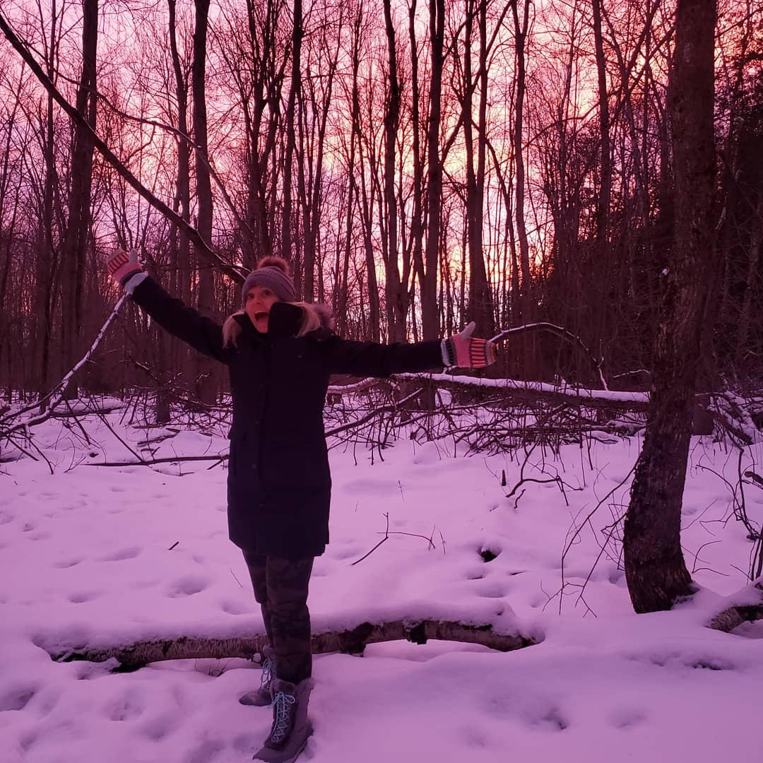 What a soul lifting sky tonight! #getoutside #sunset #pinksky #nofilter