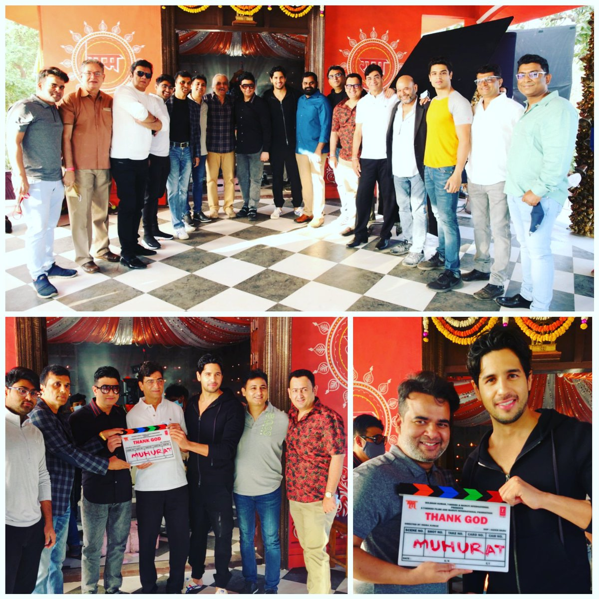 Lights Camera Action 📷🎥 The shoot for #ThankGod begins today in Mumbai! @ajaydevgn @SidMalhotra @Rakulpreet @Indra_kumar_9 #BhushanKumar #KrishanKumar #AshokThakeria @SunirKheterpal @DeepakMukut @anandpandit63 #MarkandAdhikari #YashShah @TSeries #MarutiInternational #tseries