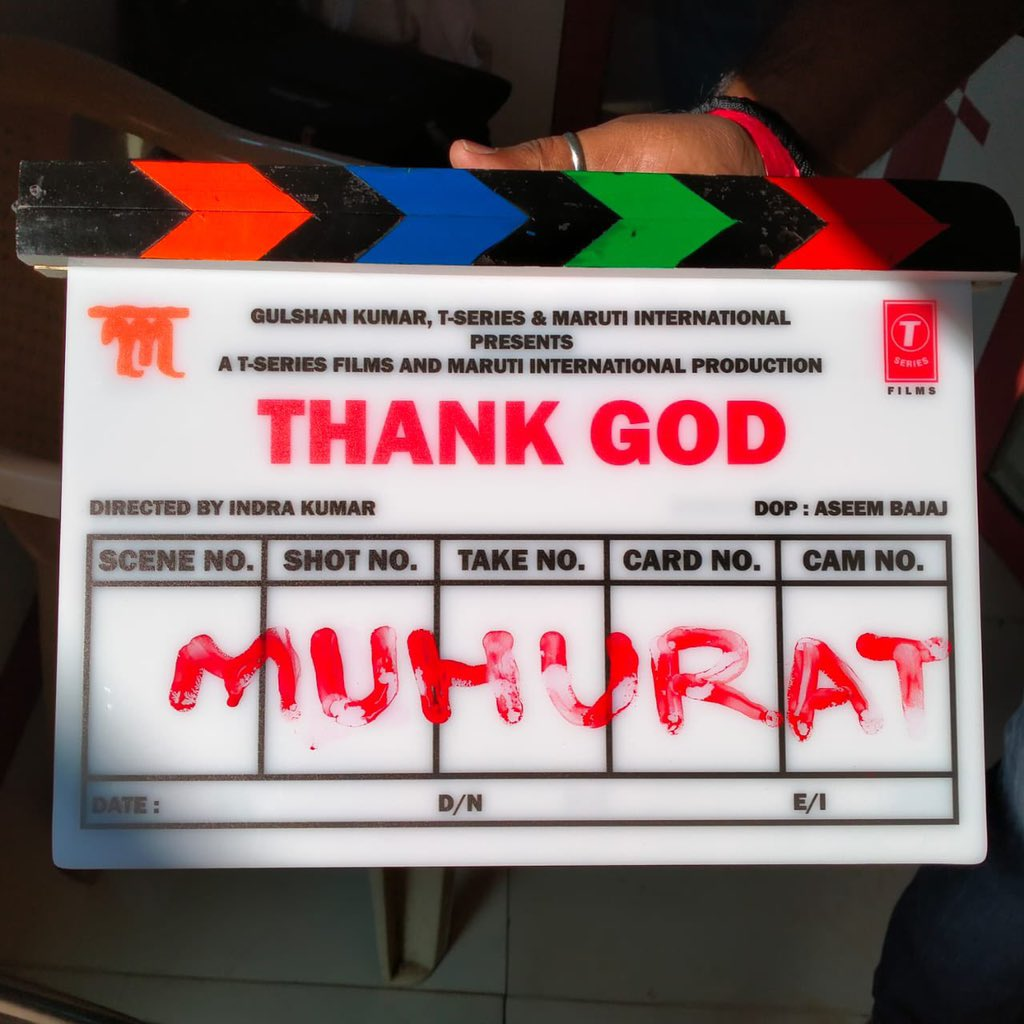 #ThankGod shoot begins today !! Super thrilled to bring to all of you this slice of life comedy. Trust me we will have you in splits 😁😁 @SidMalhotra @ajaydevgn @Indra_kumar_9 @SunirKheterpal 😁