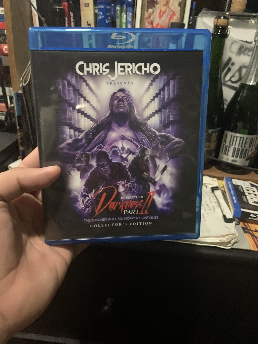 I'm so excited that In Search Of Darkness Part 2 Blue Ray came in the mail today. I'm very excited to see it @IAmJericho