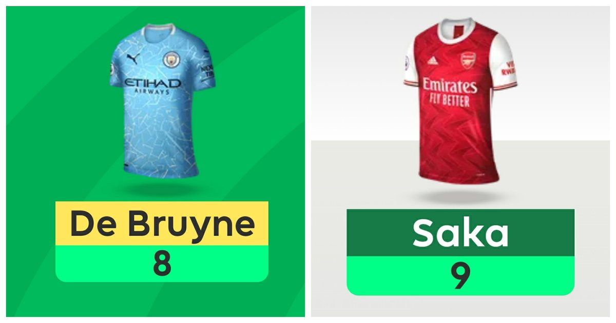 I'm gonna tell my kids that SGW Saka (£5.3m)  scored more points than DGW KDB (£11.9m).   #FPL #FantasyFootball #DGW19 #KDB #SAKA