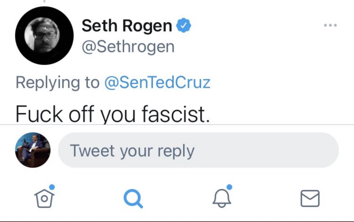 RT @patbrennan88: Seth Rogen putting Ted Cruz in a body bag is the energy I strive for https://t.co/maUlnbcTge