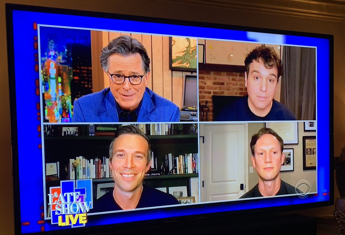 Replying to @jimmaiella: This was a terrific end to a great day. Thanks @StephenAtHome and @crookedmedia.