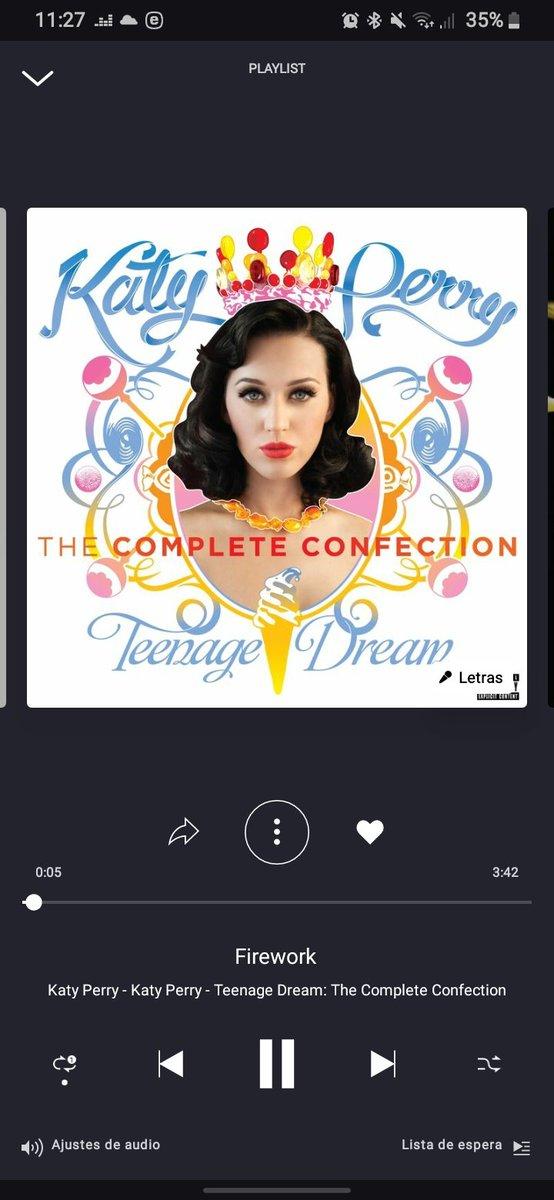 No tengo SPOTIFY, ni iTunes pero si tengo deezer y pues a escuchar toda la noche el himno de todo el mundo #CelebratingAmerica #KatyPerry