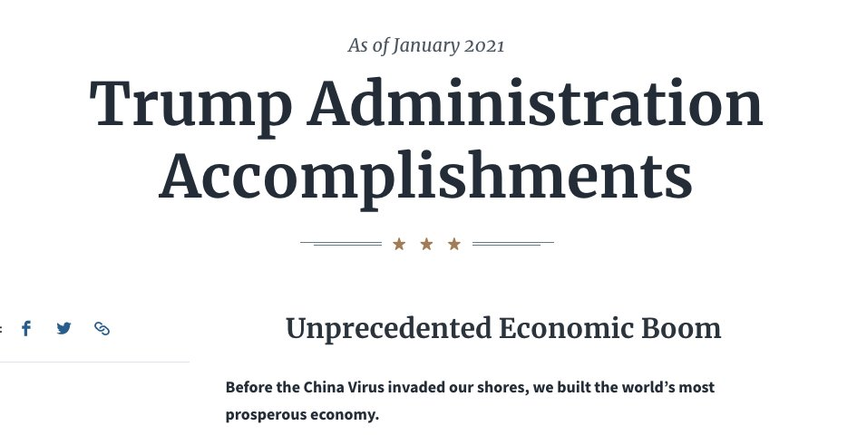 """I'm gonna miss that page of bullshit """"accomplishments"""" that @IvankaTrump & The Ignorant Fucks posted to . 😆  #ThingsImGonnaMissAboutTrump   Yesterday                                Today"""