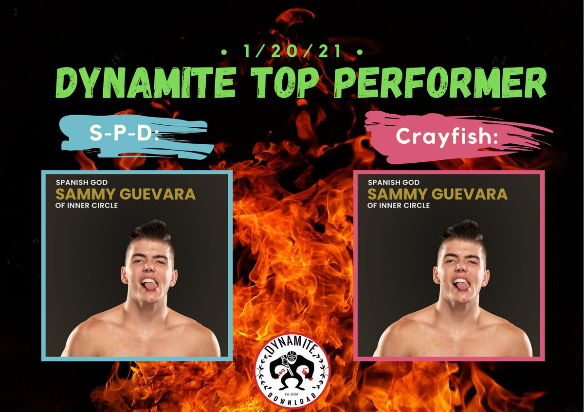 Dynamite Downloads Top Performer of the Night... @sammyguevara  We can't wait for him to go on a solo run. Like he said on #AEWDark last night he's coming for Gold. #AEWDynamite #AEWonTNT