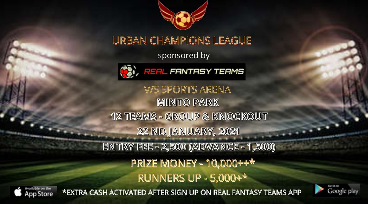 Real Fantasy Teams in association with Urban Champions League is organizing a football tournament in Kolkata, India! ⚽💪  RFT and UCL are providing a platform for talented footballers to express themselves 👏  #fantasyfootball #localfootball #CommunityEngagement  #localcommunity