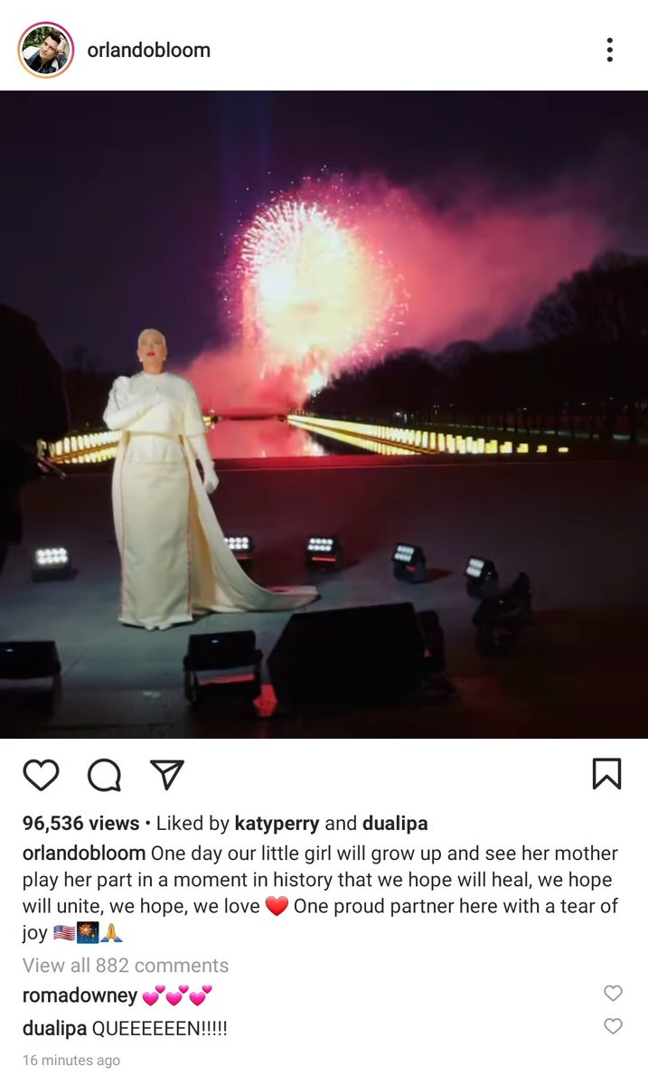 Orlando Bloom just posted this sweet message for Katy Perry #CelebratingAmerica