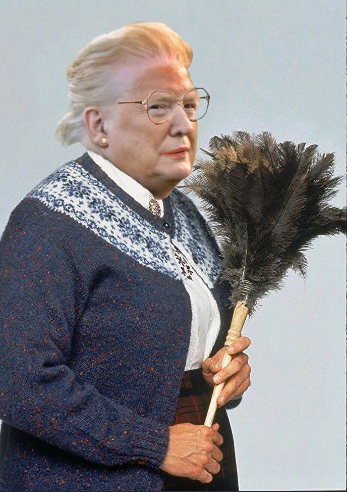 I'm a little suspicious of the new maid they just hired for the White House