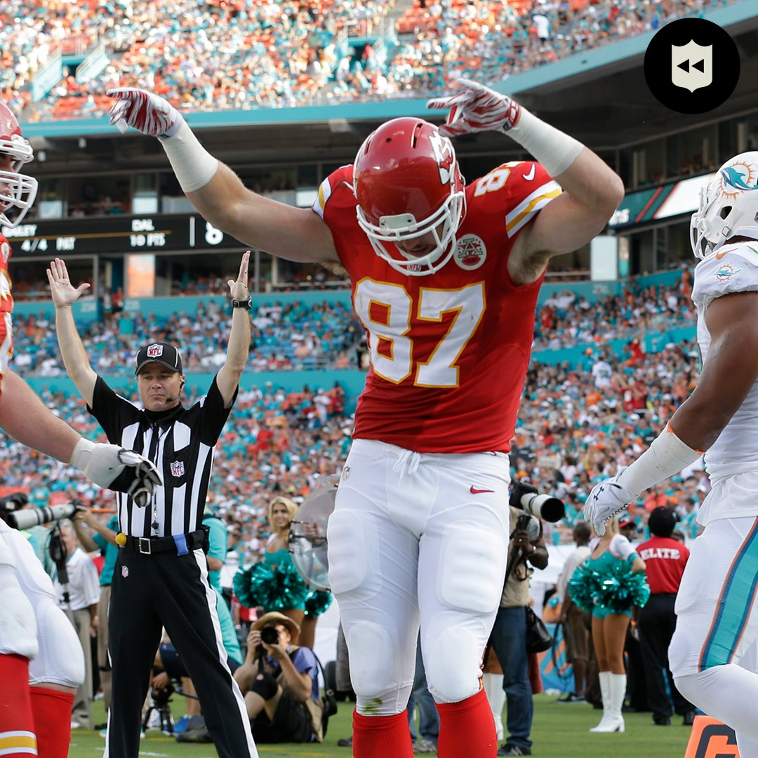 A knee injury sidelined his rookie season in 2013, so @tkelce introduced himself to the league the following year.  📺:#BUFvsKC— Sunday 6:40pm ET on CBS 📱: NFL app // Yahoo Sports app