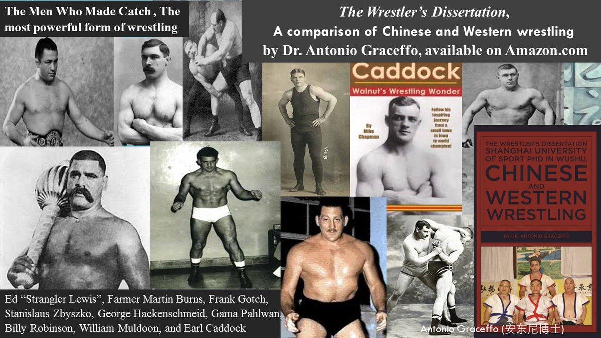 "The Men Who Made Catch #wrestling: Ed ""Strangler Lewis"", Farmer Martin Burns, Frank Gotch, Stanislaus Zbyszko, George Hackenschmeid, Gama Pahlwan, Billy Robinson, William Muldoon, and Earl Caddock   The Wrestler's Dissertation #Catchwrestling https://t.co/AXoyTfnwkg https://t.co/UXknfpi2zi"