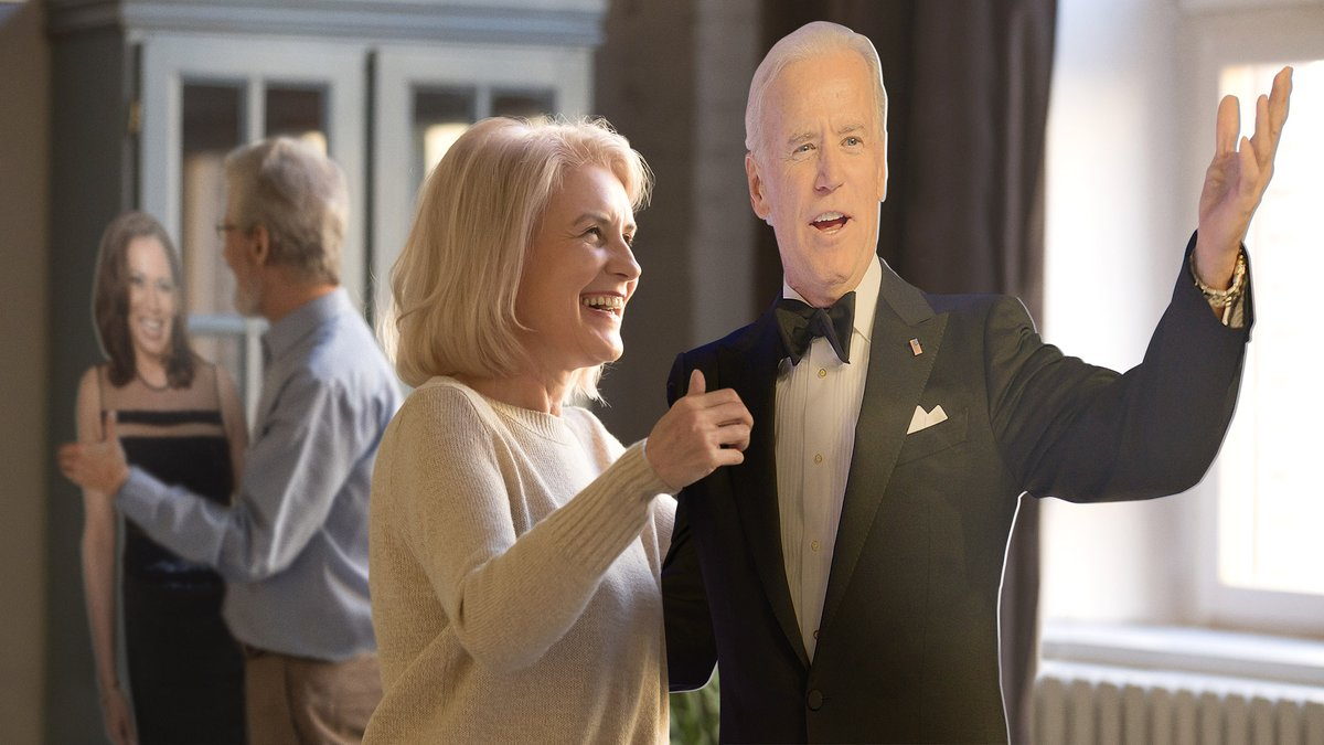 Supporters Waltz With Cutouts Of Biden, Harris During Socially Distanced Inaugural Ball