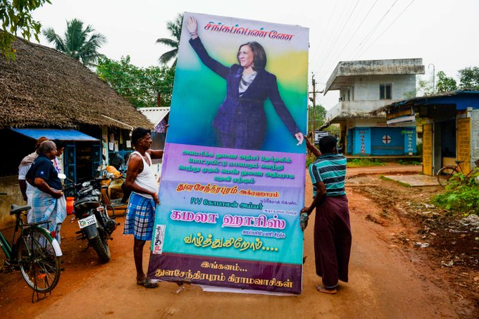 A tiny village in South India celebrates Vice President Kamala Harris with firecrackers and prayers Photo