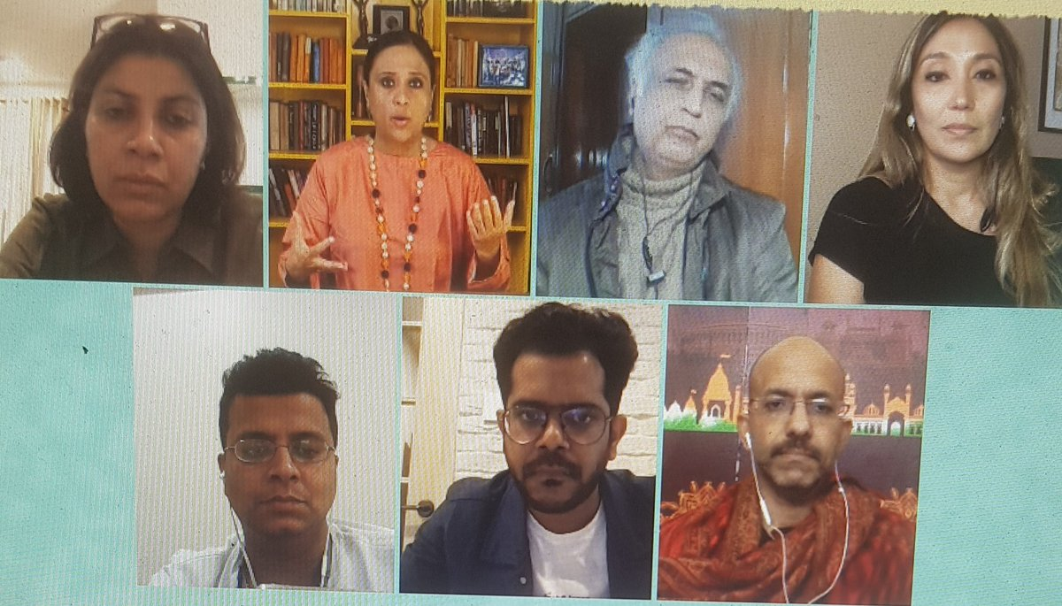 """Pleased to be back on @BDUTT 's show for a meaningful debate - this one on the stifling environment for content creators where """"mobocracy"""" and """"cultural terrorism"""" are the order of the day.   @namratazakaria @alankrita601 @aktalkies @shantanug_ @madversity @themojostory"""