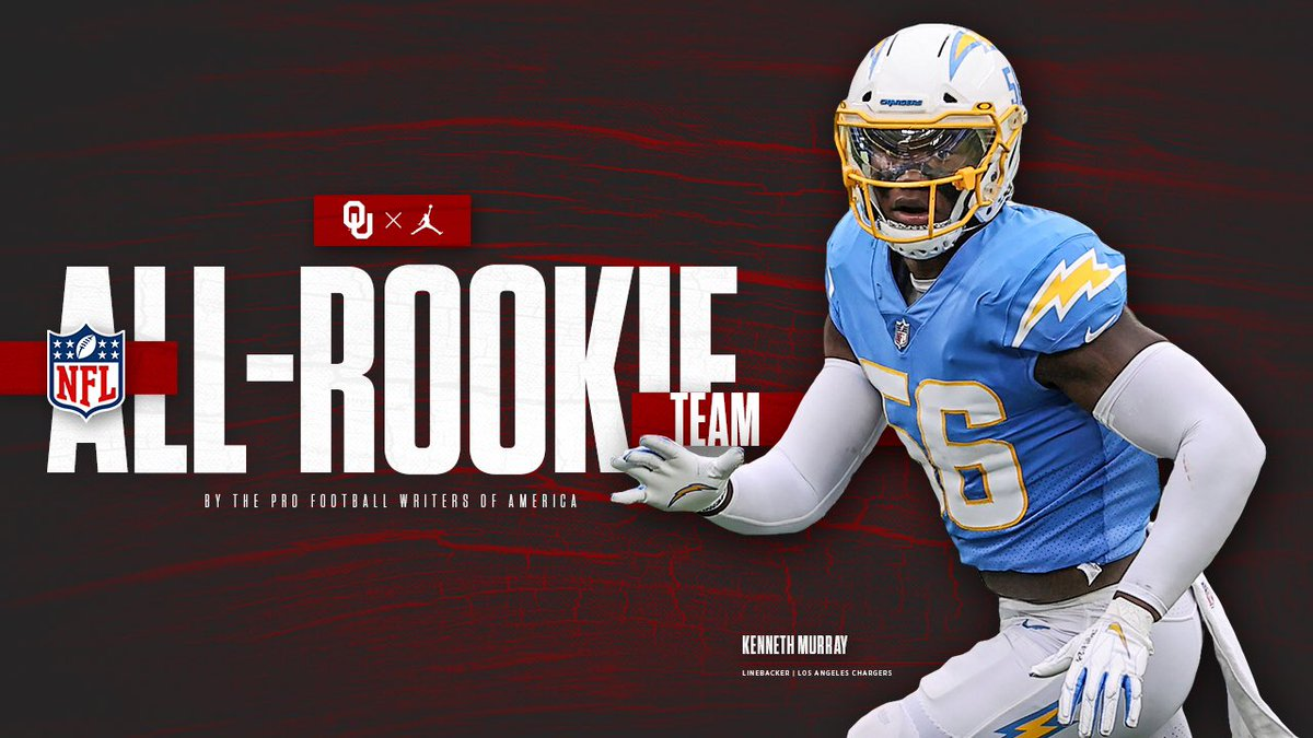 Congrats to our guy K9 on being named to the @PFWAwriters All-Rookie Team! #SpeedD #OUDNA