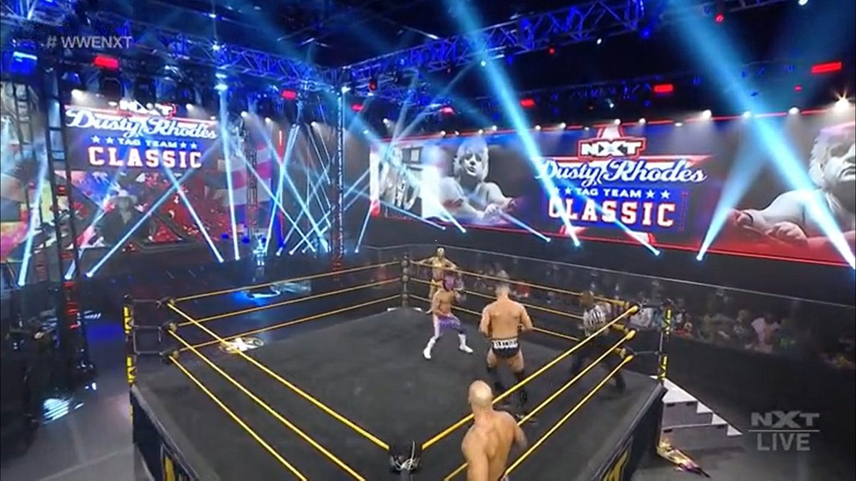 ¡Siguiente lucha en el Dusty Rhodes Tag Team Classic! Lucha House Party vs Imperium!  #DustyClassic  #WWENXT