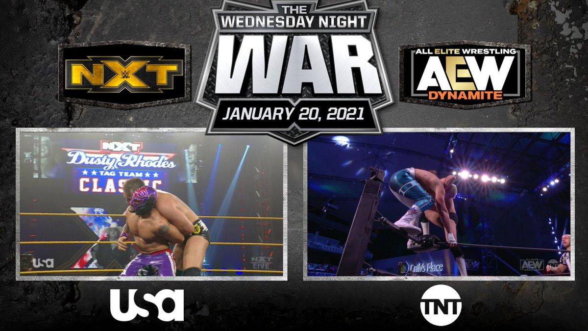 #AEWDynamite: Cody/Avalon  #WWENXT: LHP/Imperium   #WednesdayNightWar