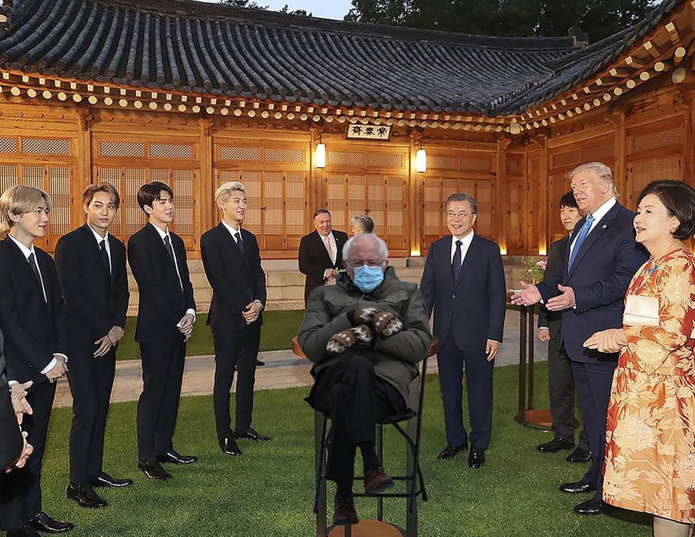 When EXO got invited by Bernie...not president Moon, nor Trump #bernie #exo