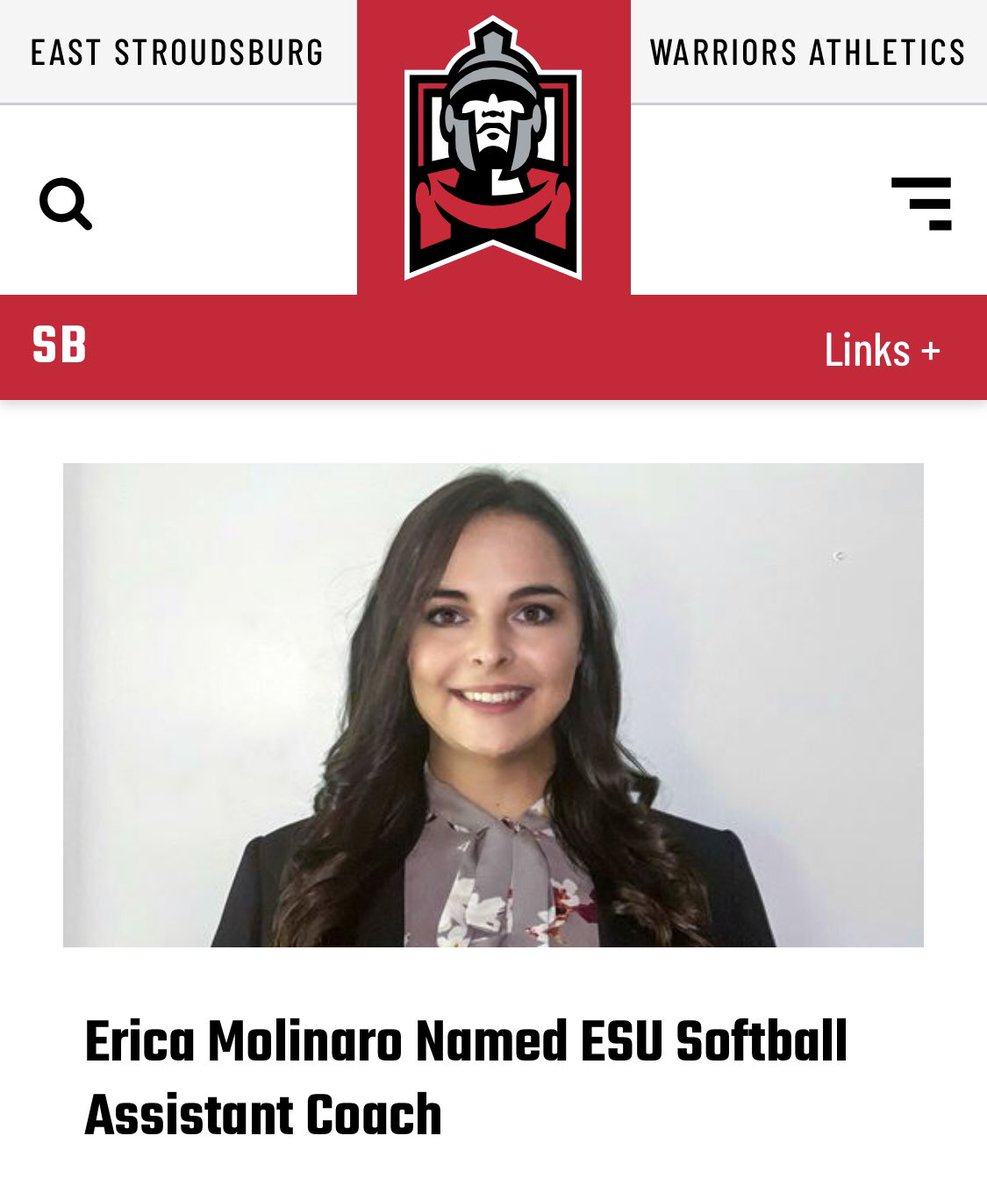 Congratulationsto our Warrior Alumni and welcome back! ❤️🖤💪🏼 Excited to add Erica Molinaro to the Warriors Softball Staff! esuwarriors.com/news/2021/1/20…