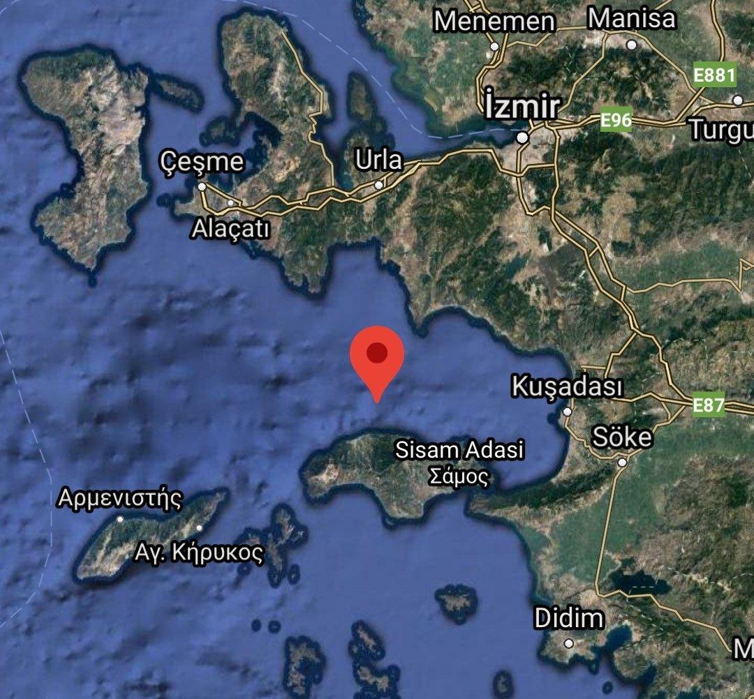Son dakika.  İzmir..Seferihisar açıklarında 4.7 büyüklüğünde #deprem.  Geçmiş olsun İZMİR.  İnşallah bir sıkıntı yoktur.  #depremizmir https://t.co/lK5tZ8IuPG