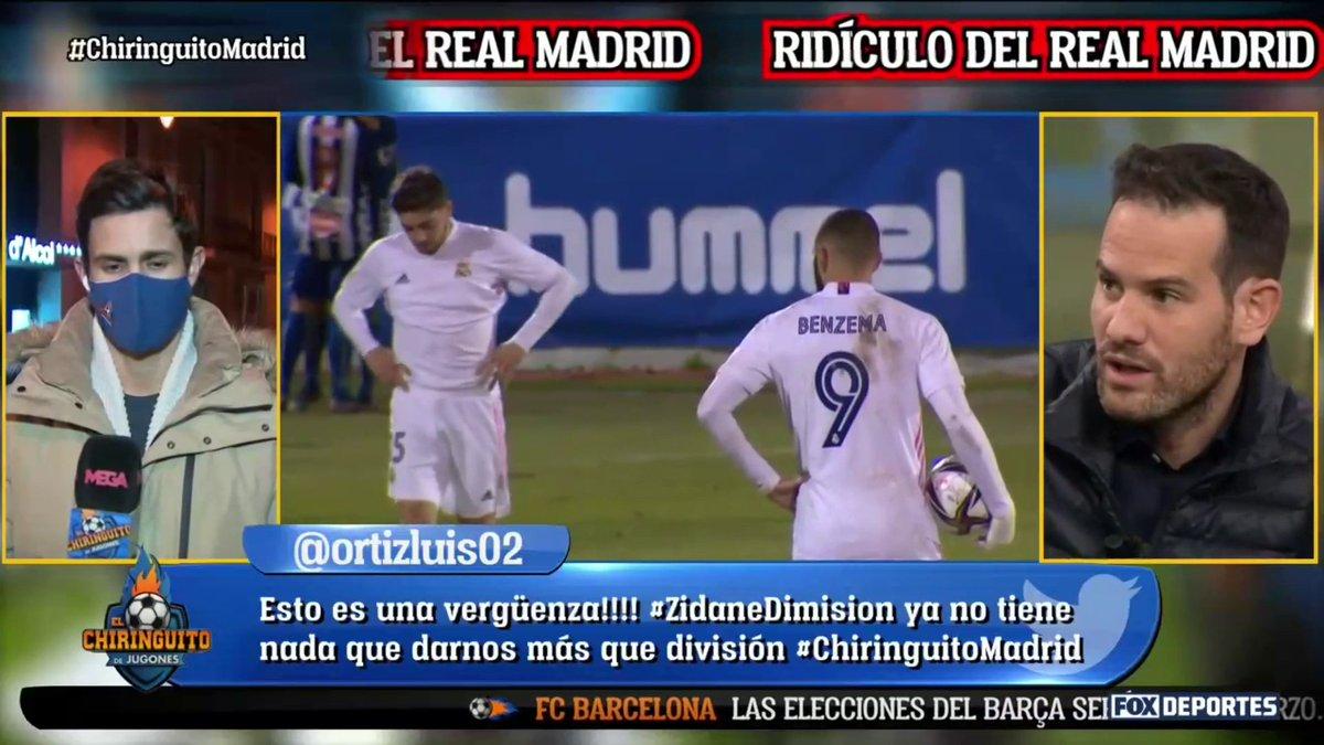 Queda casi claro que Florentino espera noticias de Zidane después del #Alcoyonazo del #RealMadrid  @elchiringuitotv en FOX Deportes