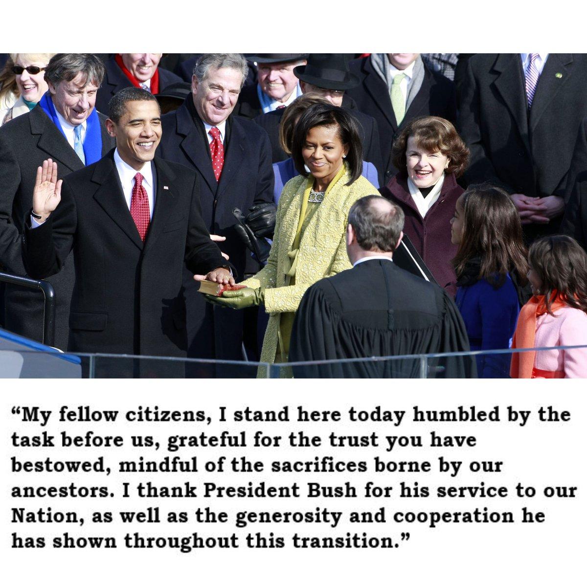 Barack Obama became the 44th President of the United States #OTD in 2009.