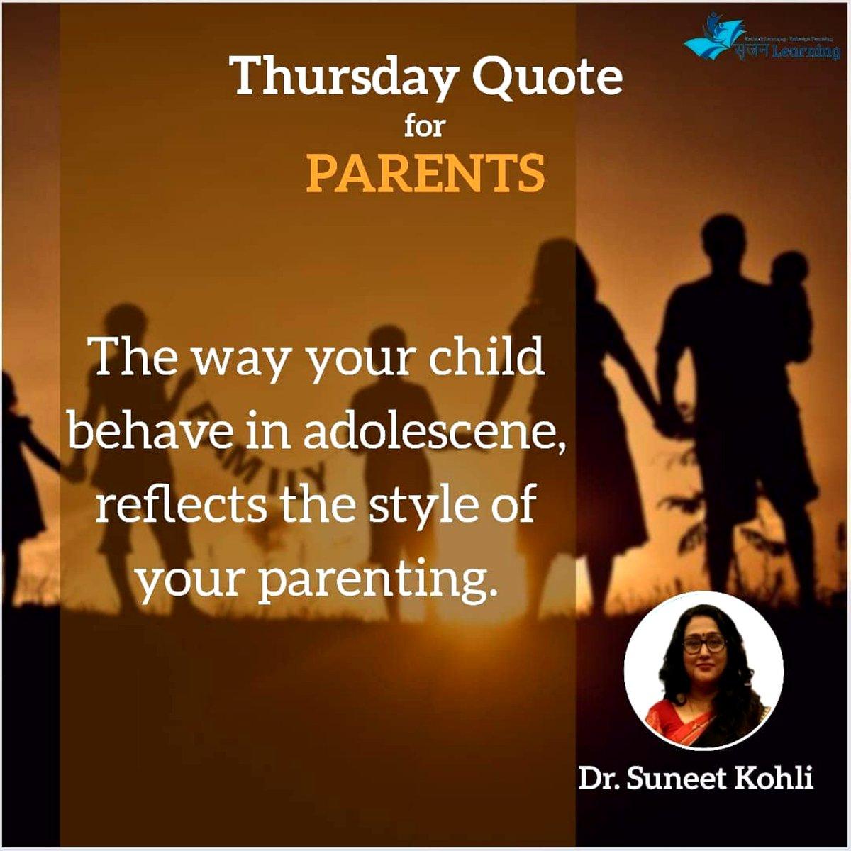 Thursday Quote For Parents:-  . . . . . #thursdaymotivation #thursdaythoughts #thursday #thursdayvibes #srijanlearning #sunitkohli #selfdependent #selfdevelopment #childdevelopment