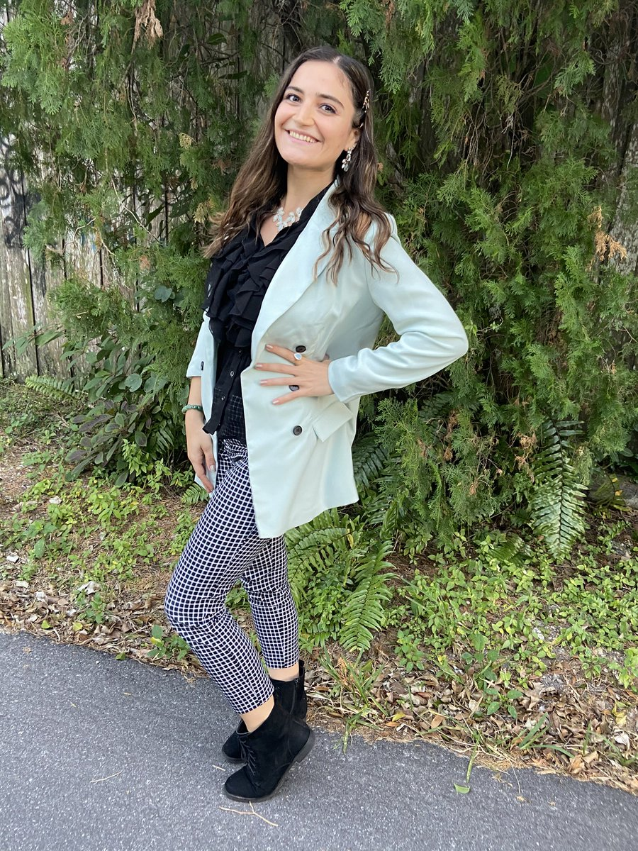 """So thankful to have been part of the """"Women in Tech"""" webinar today with the Women's Resource Center.   I channeled my inner @nickjonas with this 🔥 outfit today.   @Missguided jacket, @Walmart shirt, & @OldNavy pants. #fashion #style #ootd #outfit #outfitoftheday"""