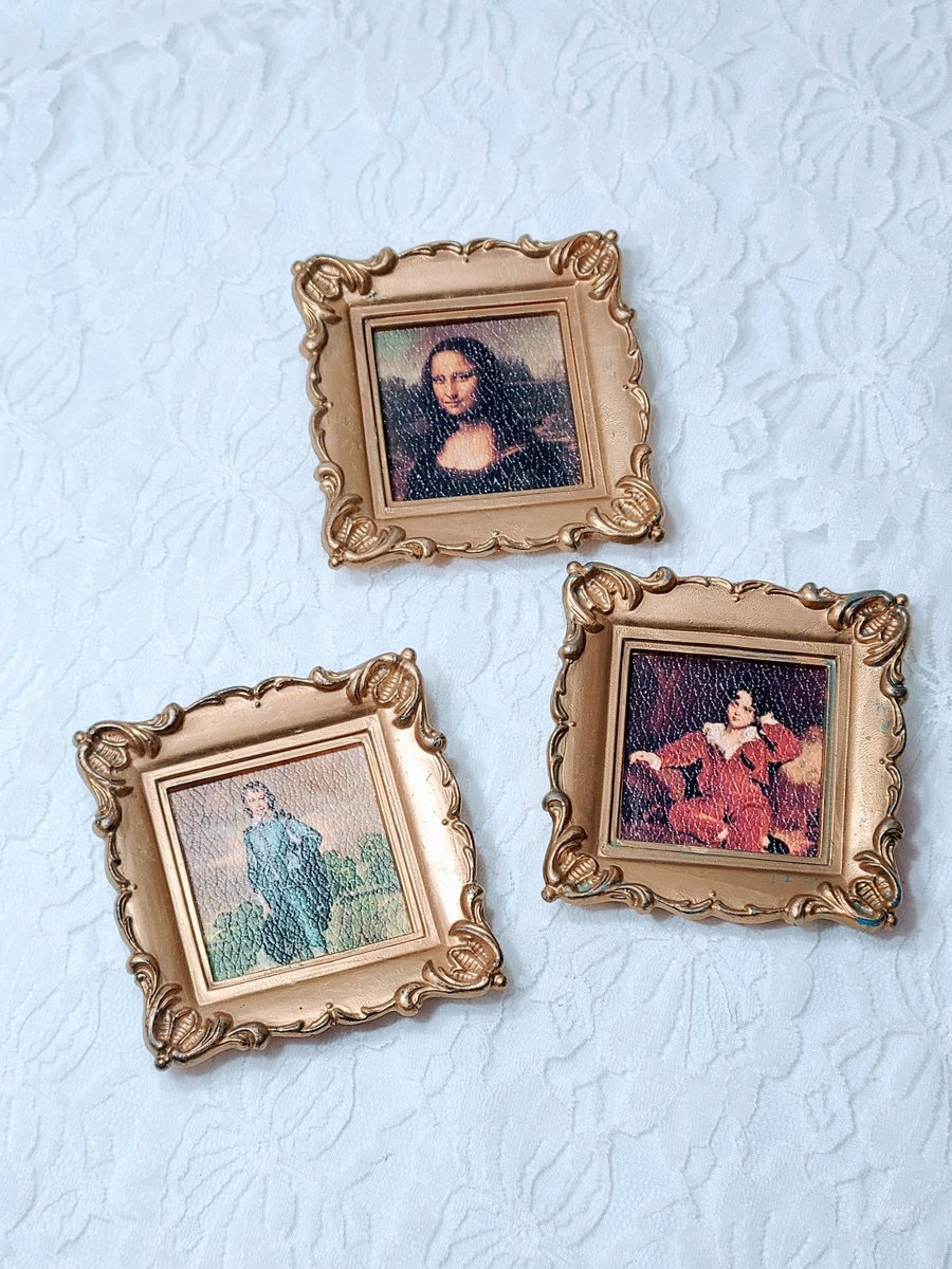 Excited to share the latest addition to my #etsy shop: Set of Three (3) Miniature Doll Sized Framed Antique Art Pictures on Leatherette Canvas ~ Mini French Renascence Masterpiece Wall Hanging https://t.co/SKWYPkNKsp #gold #painting #plastic #vintage #miniatures #photo https://t.co/r7EkNcDKwW